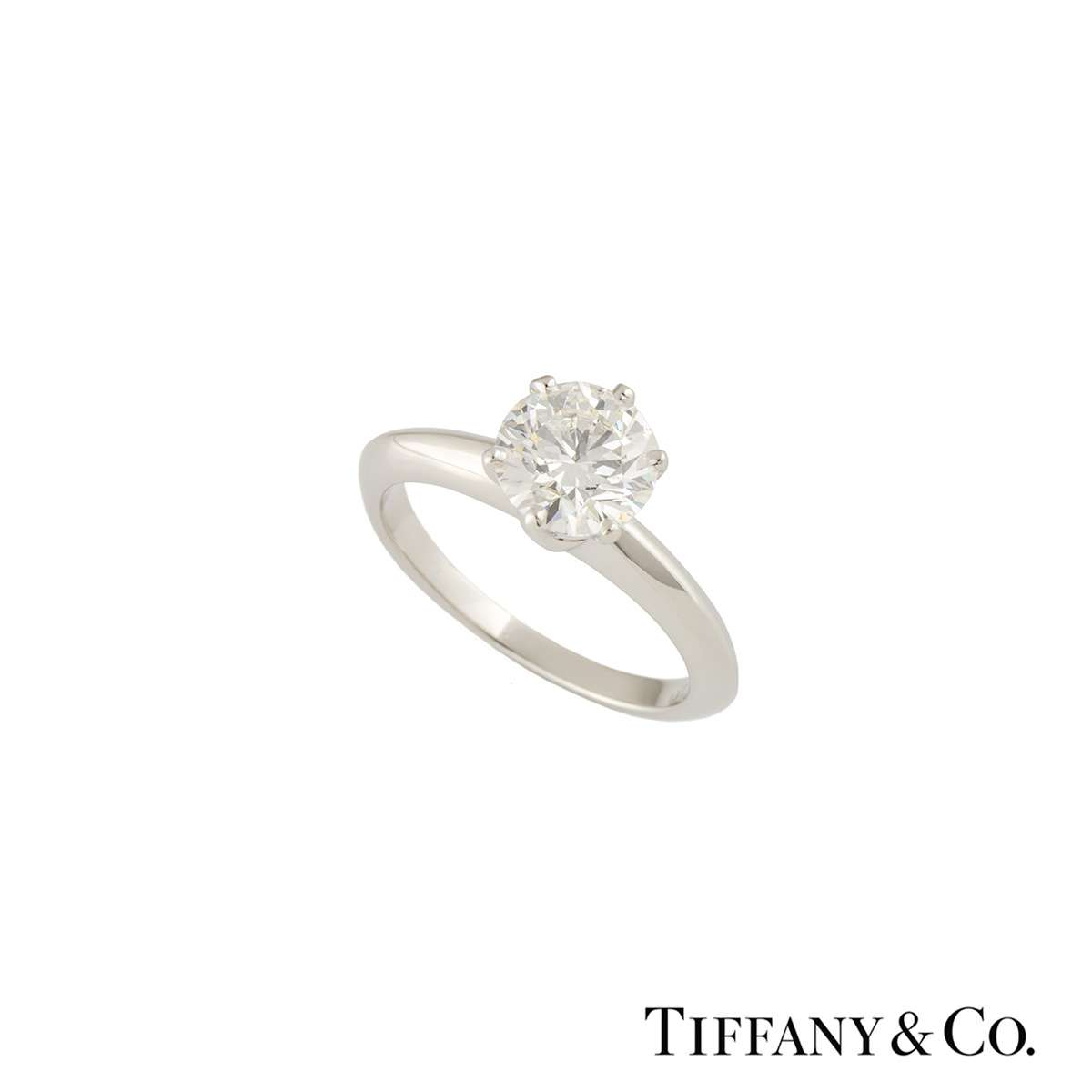 Tiffany & Co. Platinum Diamond Setting Band Ring 1.37ct I/VVS2